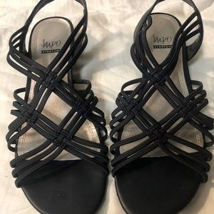 Black Knotted Sandals Impo Stretch 10M